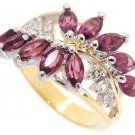 Flower 3.5 ct created Amethyst diamond CZ ring