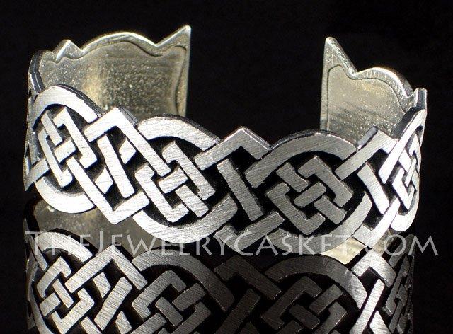 Celtic Knot Bangle ~ Antiqued Pewter Bracelet