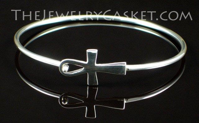 Ankh Cuff ~ Silver Bracelet