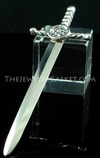 Pentagram Sword ~ Pewter Letter Opener