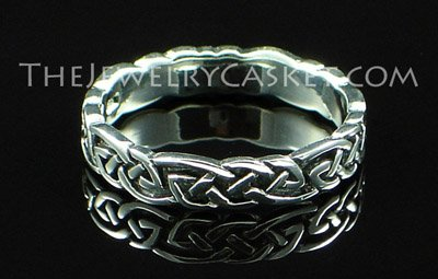 Celtic Lover's Knot Silver Ring ~ Sizes 5 - 9
