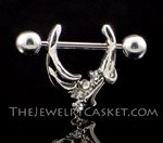 Silver & Crystal Pincher ~ Nipple Jewelry Pair