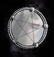 Microcosm Pentagram Mirror ~ Alchemy Gothic