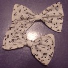 White Musical Note Bows (PAIR)