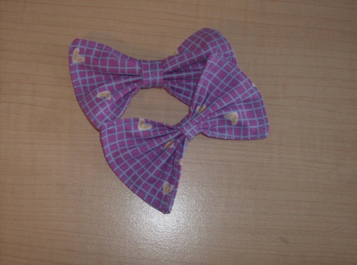 Yellow Hearts Bows (PAIR)