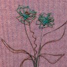 Hanging Flower - 2 Flower Arrangement - Teal