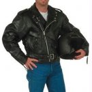 2XL LEATHER MOTORCYCLE JACKET