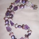 Amethyst and Freshwater Pearl Custom Necklace