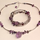Amethyst Necklace and Bracelet - Peru