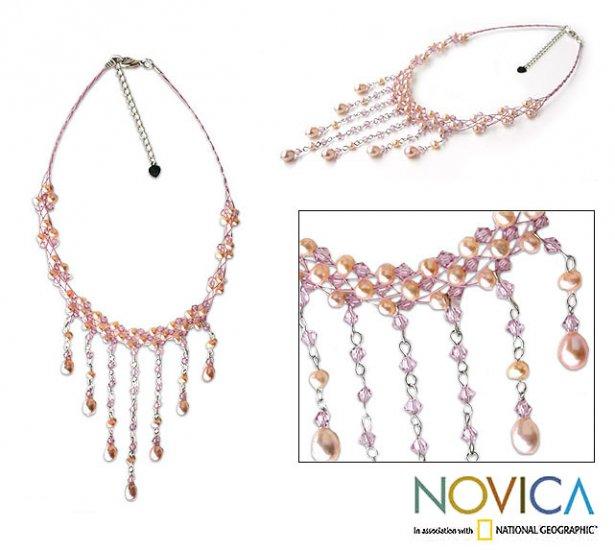 Lilac Rain Pearl Necklace - Thailand
