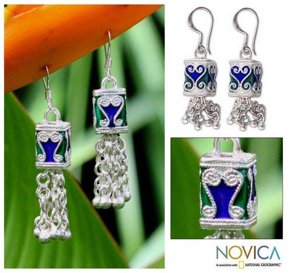 Fancy Peacock Earrings - Thailand