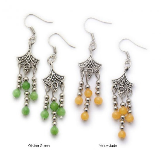 Tibetan Rain Drop Earrings - China