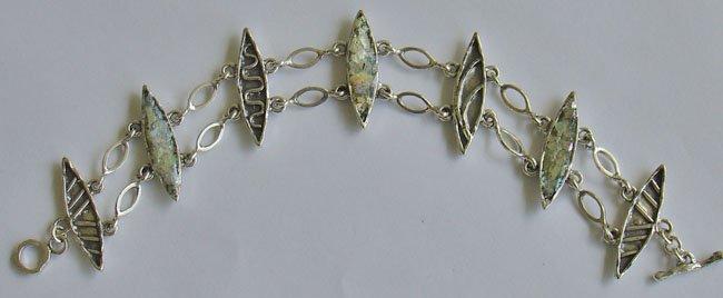 Ellipse Bracelet (Roman Glass) - Israel