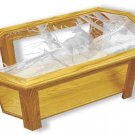 Etched Glass -  Lone Deer - Solid Oak Coffee Table - Octagon