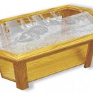Etched Glass - Wild Turkeys - Solid Oak Coffee Table - Octagon