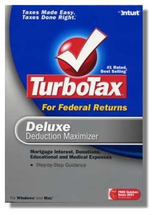 2007 TurboTax Federal Deluxe Deduction Maximizer 2007 Win/Mac Turbo Tax