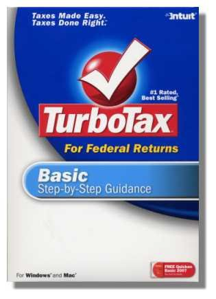2007 TurboTax Federal Basic Windows New
