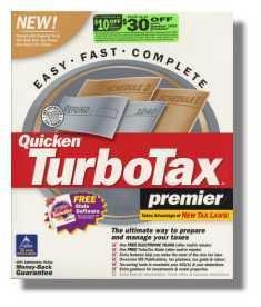 TurboTax Premier 2001 Federal Returns Turbo Tax