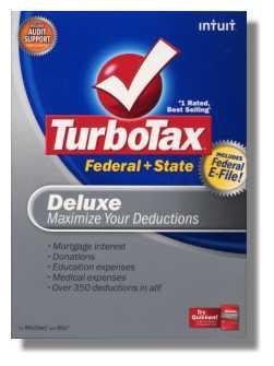 2008 TurboTax Federal State Deluxe NEW NIB Deduction Maximizer 2008 Win/Mac Turbo Tax
