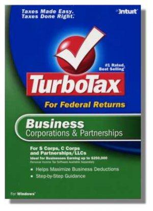 TurboTax Business 2004 Federal Return Corporations and Partnerships Turbo Tax NEW NIB