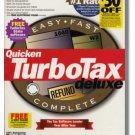 2001 TurboTax Federal Deluxe 2001 Windows Turbo Tax Intuit Turbo Tax