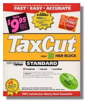 2004 TaxCut Standard Federal H&R Block Tax Cut