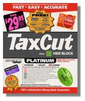 2003 TaxCut Home & Schedule C  federal return H&R Block Tax Cut