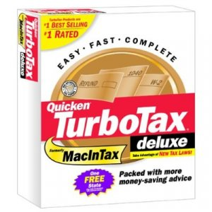 TurboTax Deluxe 1998 Federal Turbo Tax APPLE MAC VERSION