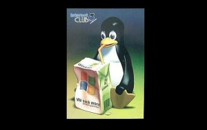 PENGUIN ON INTERNET CLUB UKRAINIAN LANGUAGE ADVERTISING POSTCARD