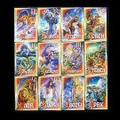 SET OF TWELVE RUSSIAN ASTROLOGY CALENDAR CARDS 2008