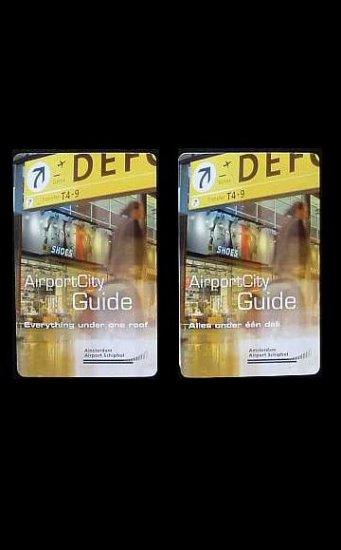 TWO SCHIPHOL AMSTERDAM AIRPORT MAP AND GUIDE BOOKLETS ENGLISH AND DUTCH