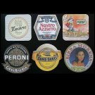 COLLECTION OF SIX ITALIAN BEER MAT COASTERS