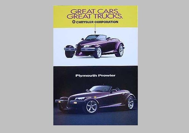 PLYMOUTH PROWLER ADVERTISING POSTCARDS