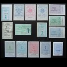 COLLECTION OF FIFTEEN UKRAINIAN BUS AND TRAM TICKETS
