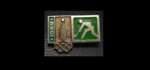 OLYMPICS MOSCOW 1980 SPORT FIELD HOCKEY PIN BADGE