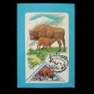 SOVIET ALL UNION OF PHILATELISTS STAMP COLLECTORS CALENDAR CARD 1987