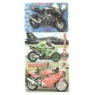 THREE RUSSIAN UKRAINIAN LANGUAGE 2009 SUPER BIKE CALENDAR CARDS