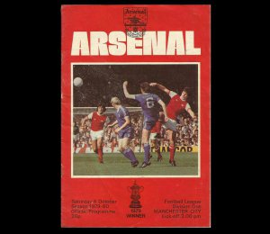 ARSENAL MANCHESTER CITY LEAGUE DIVISION ONE FOOTBALL PROGRAMME 6th OCTOBER 1979