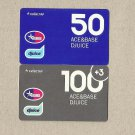 UKRAINE ACE&BASE DJUICE TWO MOBILE TELEPHONE TOP UP CARDS