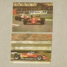 TWO RUSSIAN LANGUAGE FERRARI GRAND PRIX CALENDAR CARDS 1989