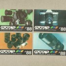 SET OF FOUR SOVIET CAMERA EQUIPMENT RUSSIAN LANGUAGE CALENDAR CARDS 1988