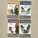 SET OF FOUR WOMENS SHOES ADVERTISING POLISH LANGUAGE CALENDAR CARDS 2013
