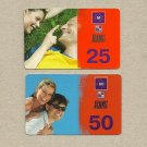 UMC JEANS NETWORK TWO MOBILE TELEPHONE TOP UP CARDS