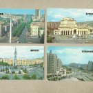SET OF FOUR SOVIET REPUBLIC CAPITALS RUSSIAN LANGUAGE CALENDAR CARDS 1986