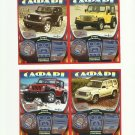 SAFARI FOUR WHEEL DRIVE UKRAINIAN LANGUAGE SCRATCH LOTTERY CARDS SET OF FOUR