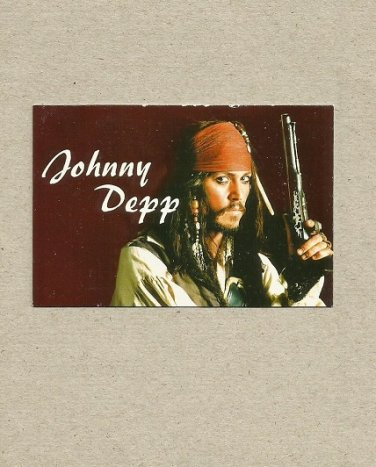 JOHNNY DEPP PIRATES OF THE CARIBBEAN RUSSIAN LANGUAGE CALENDAR CARD BOOKMARK 2009