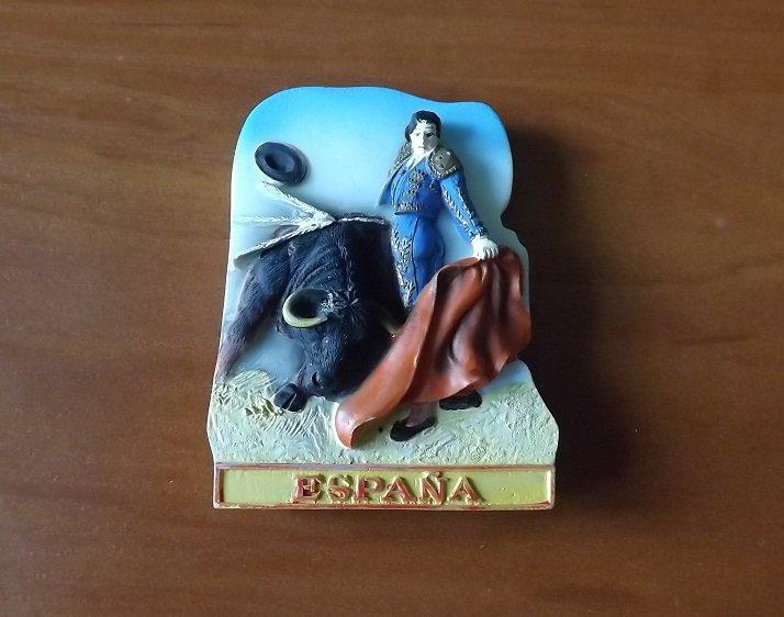ESPANA SPAIN SPANISH BULLFIGHTING FRIDGE MAGNET