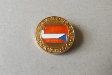 SOVIET UNION CZECHOSLOVAKIA CCCP YCCP INTERKOSMOS PIN BADGE