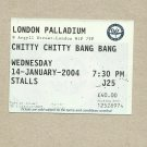 LONDON PALLADIUM CHITTY CHITTY BANG BANG TICKET JANUARY 2004