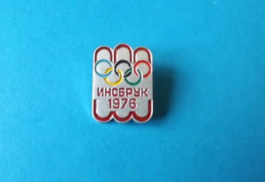 INNSBRUCK WINTER OLYMPIC GAMES 1976 PIN BADGE FROM THE SOVIET UNION